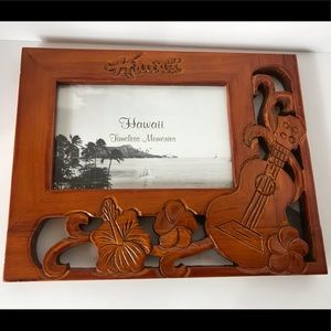 Other - 🌴HAWAII🌴HAND-CARVED SOLID WOOD PICTURE FRAME 4x6